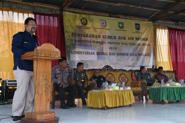 Kepala Pusat Litbang Teknologi Mineral dan Batu Bara Resmikan Sumur Bor Air Bersih