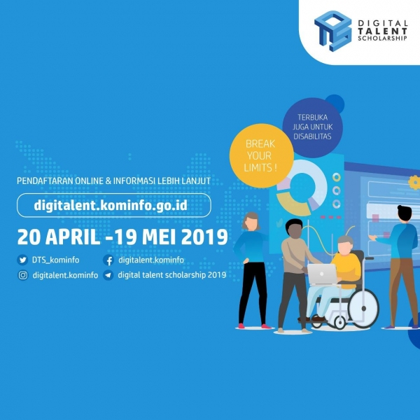 Pendaftaran program Digital Talent Scholarship 2019