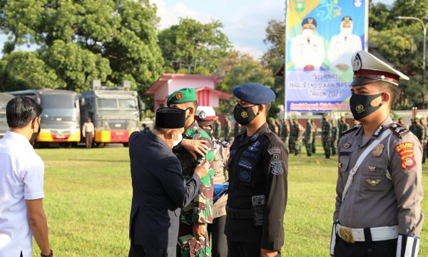 Bupati Sumbawa Pimpin Apel Gelar Pasukan Operasi Ketupat Rinjani 2021