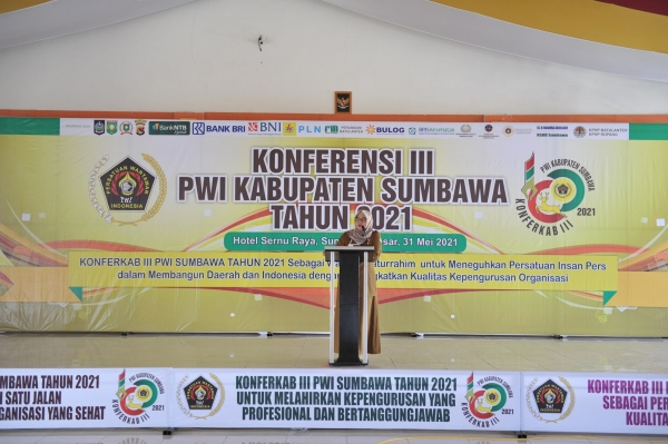 Koferensi III Persatuan Wartawan Indonesia (Konferkab III PWI) Kabupaten Sumbawa tahun 2021