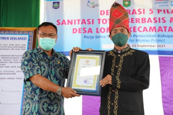 Deklarasi Desa Lopok Kecamatan Lopok Sebagai Desa STBM (Sanitasi Total Berbasis Masyarakat)